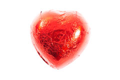 Red chocolate heart candies Royalty Free Stock Photography