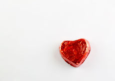 Red chocolate hearts candies Stock Image