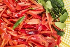Red chopped chili Stock Photo