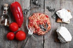 Red chopped paprika Royalty Free Stock Photo