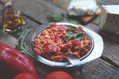 Red chopped paprika Stock Image