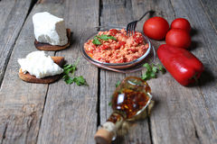 Red chopped paprika Royalty Free Stock Photos