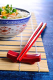 Red chopsticks Royalty Free Stock Photography