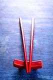 Red chopsticks Royalty Free Stock Photos