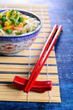 Red chopsticks Royalty Free Stock Images