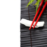 Red chopsticks Stock Image