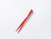 Red chopsticks Stock Photography