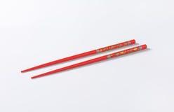 Red chopsticks Royalty Free Stock Image