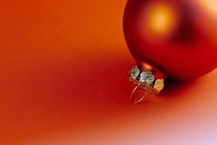 Red Chrismas ball Stock Photos
