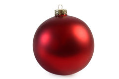 Red chrismas ball Royalty Free Stock Photo