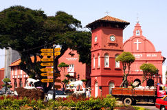 Red Christ Church in Malacca Royalty Free Stock Images