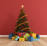Red christams room Royalty Free Stock Photography