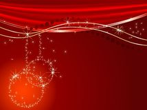 Red Christmas. Abstract christmas background with balls Royalty Free Stock Photography