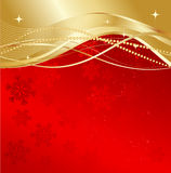 Red christmas abstract background. Red and gold abstract background. Christmas background with  snowflakes Royalty Free Stock Photography