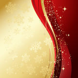 Red christmas abstract background. Red and gold abstract background. Christmas background with  snowflakes Stock Photo