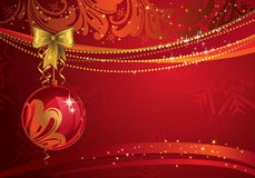 Red Christmas backdrop Royalty Free Stock Images