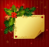 Red Christmas backdrop Stock Photo