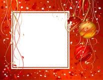 Red Christmas backdrop Stock Photos