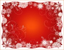 Red christmas backgroud,vector Stock Photography