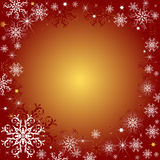 Red christmas background. With snowflakes and a place for the text vector illustration