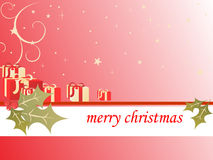 Red christmas background. Vector illustration of christmasy elements Royalty Free Stock Photography