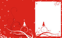 Red Christmas Background. With a celebration card Royalty Free Stock Image
