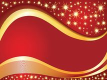 Red Christmas background. Red background for Christmas card with a blank space for text Royalty Free Stock Photo