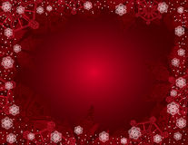 Red christmas background. Red christmas background with snowflakes Stock Photography