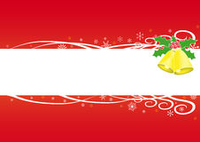 Red Christmas background. Illustration of red background for Christmas, with a blank stripe in between for text Royalty Free Stock Image