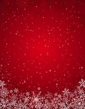Red christmas background,  Royalty Free Stock Photography