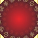 Red Christmas background. A red Christmas background with snowflakes and golden corners.EPS file available Stock Image