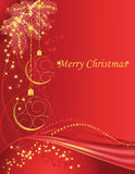 Red christmas background. Christmas red background with baubles Royalty Free Stock Photography