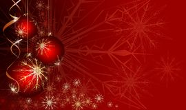 Red Christmas background. Red Christmas balls on a bright background Royalty Free Stock Images