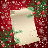 Red christmas background Stock Image