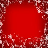 Red christmas background. Whit white decoration Royalty Free Stock Image