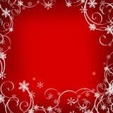 Red christmas background. Whit white decoration royalty free illustration