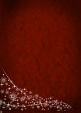 Red christmas background. With white decoration Stock Photography