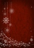 Red christmas background. With white illustration Royalty Free Stock Photo