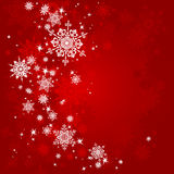 Red Christmas background. With space for text Stock Photography