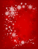 Red Christmas background. Red snow christmas background with space for text Stock Images