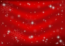 Red Christmas Background. With Stars and Snowflakes vector illustration
