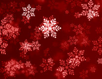 Red christmas background. With snowflakes Royalty Free Stock Images