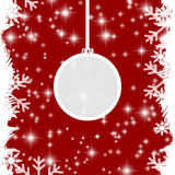 Red Christmas background. A red Christmas background with snowflakes Stock Image
