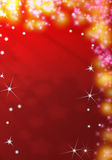 Red christmas background. With glittering stars Stock Illustration