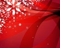 Red Christmas background stock illustration