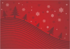 Red christmas background. Christmas background illustration - no mesh, gradient only Royalty Free Stock Photos