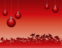 A Red Christmas Background Stock Photos