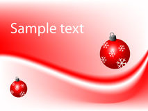 Red christmas background. With decorations, vector illustration vector illustration