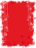 Red christmas background. With snowflakes Stock Image
