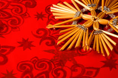 Red Christmas background. A red Christmas background, Christmas decorations Royalty Free Stock Photography